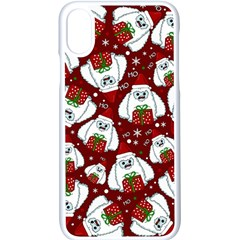 Yeti Xmas Pattern Apple Iphone X Seamless Case (white) by Valentinaart
