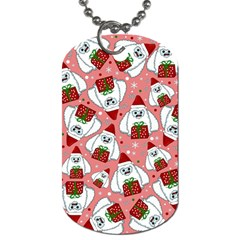 Yeti Xmas Pattern Dog Tag (two Sides) by Valentinaart