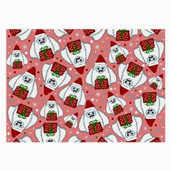 Yeti Xmas Pattern Large Glasses Cloth (2 Side) by Valentinaart