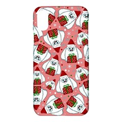 Yeti Xmas Pattern Apple Iphone X Hardshell Case by Valentinaart