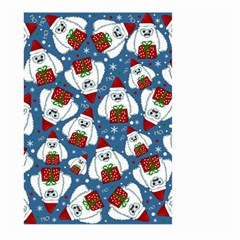 Yeti Xmas Pattern Large Garden Flag (two Sides) by Valentinaart
