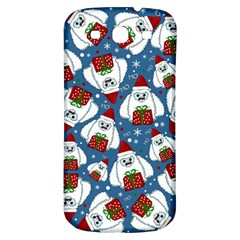 Yeti Xmas Pattern Samsung Galaxy S3 S Iii Classic Hardshell Back Case by Valentinaart