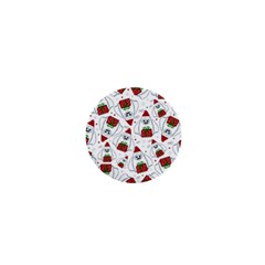 Yeti Xmas Pattern 1  Mini Magnets by Valentinaart
