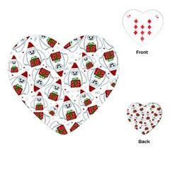 Yeti Xmas Pattern Playing Cards (heart)