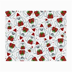 Yeti Xmas Pattern Small Glasses Cloth (2 Side) by Valentinaart