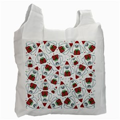 Yeti Xmas Pattern Recycle Bag (one Side) by Valentinaart