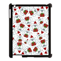 Yeti Xmas Pattern Apple Ipad 3/4 Case (black) by Valentinaart
