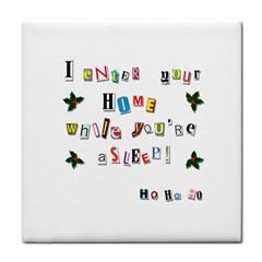 Santa s Note Tile Coasters by Valentinaart