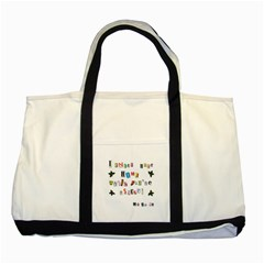 Santa s Note Two Tone Tote Bag