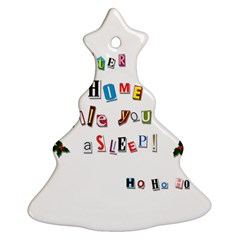 Santa s Note Christmas Tree Ornament (two Sides)