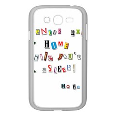 Santa s Note Samsung Galaxy Grand Duos I9082 Case (white) by Valentinaart