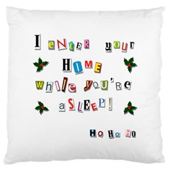 Santa s Note Large Flano Cushion Case (one Side) by Valentinaart