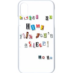 Santa s Note Apple Iphone X Seamless Case (white) by Valentinaart