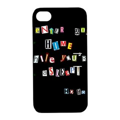 Santa s Note Apple Iphone 4/4s Hardshell Case With Stand by Valentinaart