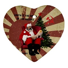 Karl Marx Santa  Ornament (heart) by Valentinaart