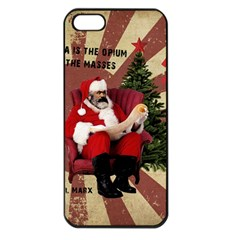 Karl Marx Santa  Apple Iphone 5 Seamless Case (black) by Valentinaart