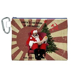 Karl Marx Santa  Canvas Cosmetic Bag (xl) by Valentinaart