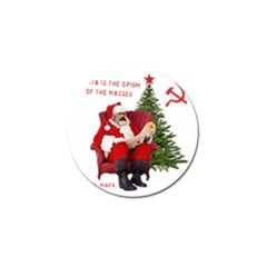 Karl Marx Santa  Golf Ball Marker by Valentinaart