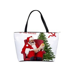 Karl Marx Santa  Shoulder Handbags by Valentinaart