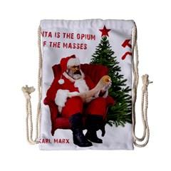 Karl Marx Santa  Drawstring Bag (small) by Valentinaart