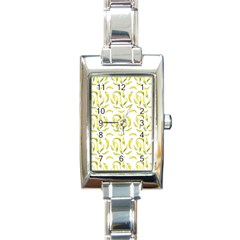 Chilli Pepers Pattern Motif Rectangle Italian Charm Watch by dflcprints