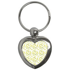 Chilli Pepers Pattern Motif Key Chains (heart)  by dflcprints