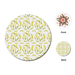 Chilli Pepers Pattern Motif Playing Cards (round)  by dflcprints