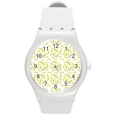 Chilli Pepers Pattern Motif Round Plastic Sport Watch (m) by dflcprints