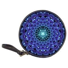 Accordant Electric Blue Fractal Flower Mandala Classic 20 Cd Wallets by jayaprime