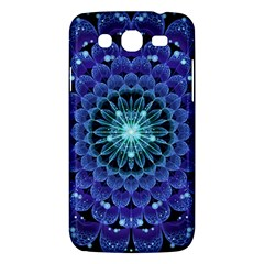 Accordant Electric Blue Fractal Flower Mandala Samsung Galaxy Mega 5 8 I9152 Hardshell Case  by jayaprime