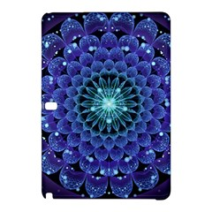 Accordant Electric Blue Fractal Flower Mandala Samsung Galaxy Tab Pro 10 1 Hardshell Case by jayaprime