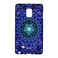 Accordant Electric Blue Fractal Flower Mandala Galaxy Note Edge by jayaprime