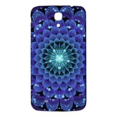 Accordant Electric Blue Fractal Flower Mandala Samsung Galaxy Mega I9200 Hardshell Back Case by jayaprime