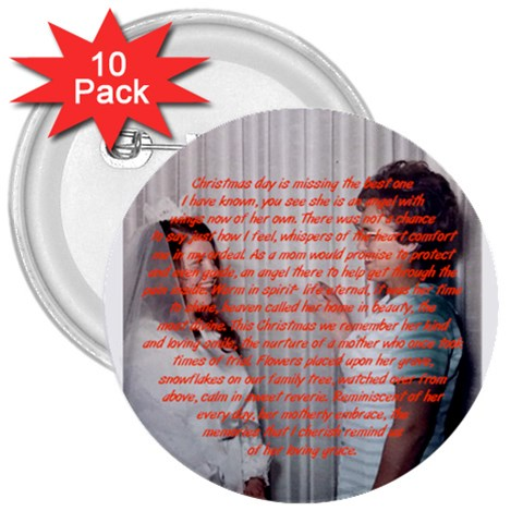 Family Christmas Button By Shelleyww42 Gmail Com   3  Button (10 Pack)   R719wfqaaq9f   Www Artscow Com Front