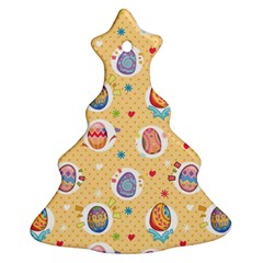 Fun Easter Eggs Christmas Tree Ornament (two Sides) by AllThingsEveryone