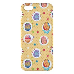 Fun Easter Eggs Apple Iphone 5 Premium Hardshell Case by allthingseveryone