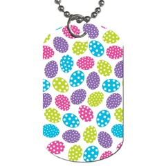 Polka Dot Easter Eggs Dog Tag (one Side) by allthingseveryone