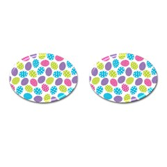 Polka Dot Easter Eggs Cufflinks (oval) by AllThingsEveryone