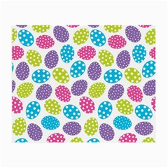 Polka Dot Easter Eggs Small Glasses Cloth (2 Side) by AllThingsEveryone