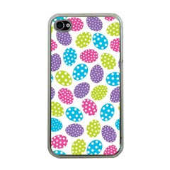 Polka Dot Easter Eggs Apple Iphone 4 Case (clear) by allthingseveryone