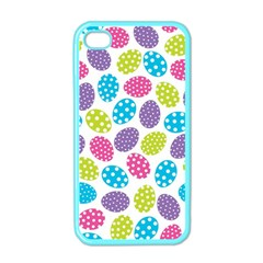 Polka Dot Easter Eggs Apple Iphone 4 Case (color) by allthingseveryone