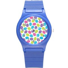 Polka Dot Easter Eggs Round Plastic Sport Watch (s) by allthingseveryone