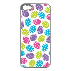 Polka Dot Easter Eggs Apple Iphone 5 Case (silver) by allthingseveryone