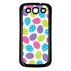 Polka Dot Easter Eggs Samsung Galaxy S3 Back Case (black) by AllThingsEveryone