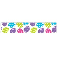 Polka Dot Easter Eggs Large Flano Scarf  by AllThingsEveryone