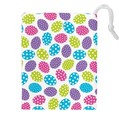 Polka Dot Easter Eggs Drawstring Pouches (xxl) by AllThingsEveryone