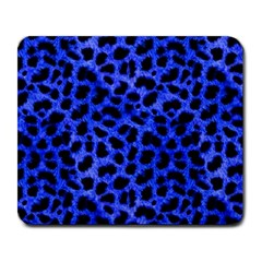 Blue Cheetah Print  Large Mousepads