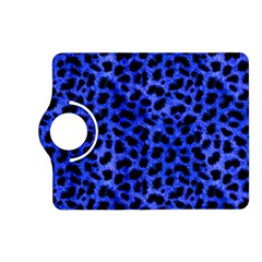 Blue Cheetah Print  Kindle Fire Hd (2013) Flip 360 Case by AllThingsEveryone