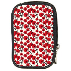 Red Flowers Compact Camera Cases by allthingseveryone
