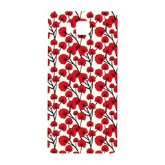 Red Flowers Samsung Galaxy Alpha Hardshell Back Case by allthingseveryone